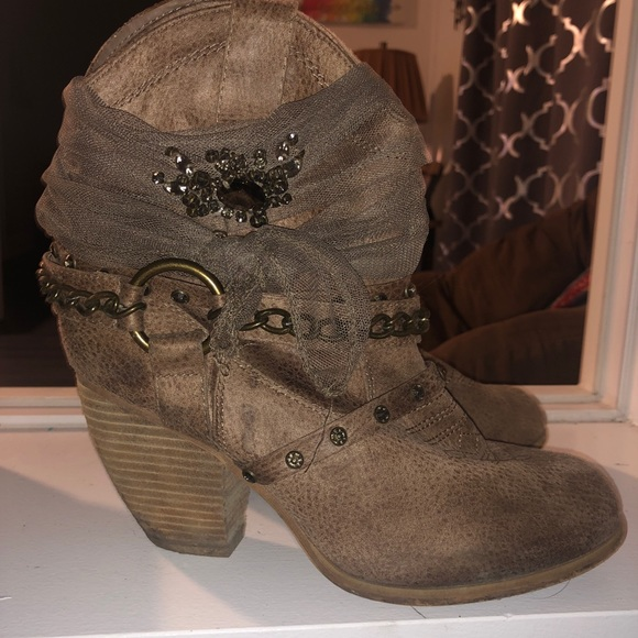 Not Rated Shoes - Jeweled cowboy style booties
